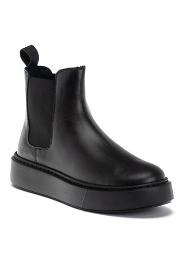 Frau  Kadın Bot 41E3   Beatles Leather  Siyah